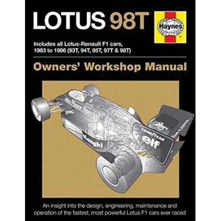 lotus 98t owners 39 workshop manual librairie motors mania. Black Bedroom Furniture Sets. Home Design Ideas