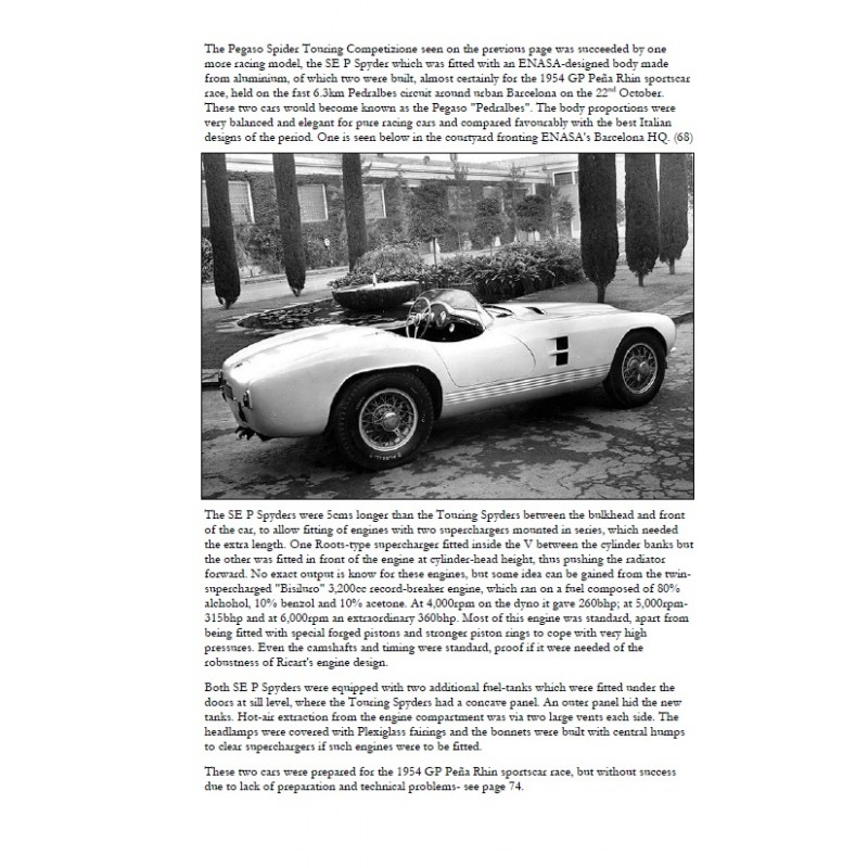 Pegaso And Ricart From Hispano Suiza To Pegaso Trucks Buses And Sportscars Vol 2 Librairie