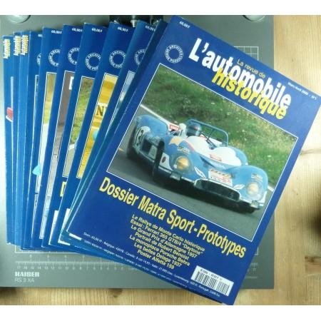 La Revue de l'Automobile Historique collection des 11 premiers numéros