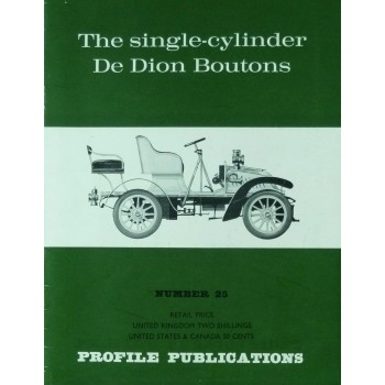 The  single-cylinder De Dion Boutons (Profile N°25)