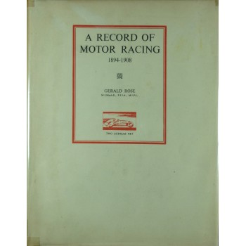 A Record of Motor racing 1894-1908