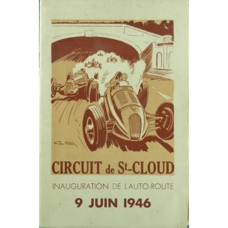 Programme Circuit de St cloud  9 juin 1946 - Couverture Geo Ham