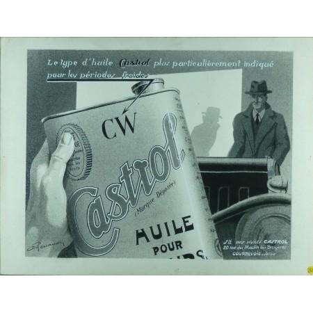 Dessin original publicité Castrol