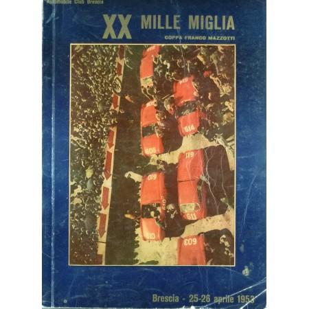 PROGRAMME XXè MILLE MIGLIA 1953