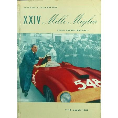 PROGRAMME XXIVÈ MILLE MIGLIA 1957