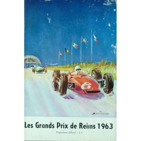 PROGRAMME GRAND PRIX DE REIMS 1963