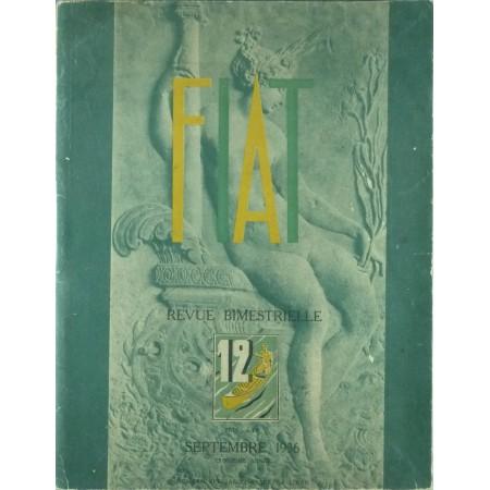 Fiat Revue Bimestrielle N°12 septembre 1936