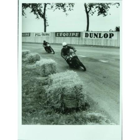 PHOTO GRAND PRIX D'ALBI 1946 MOTO 500 - JEAN DIEUZAIDE.