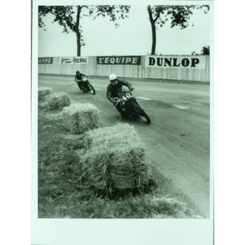PHOTO GRAND PRIX D'ALBI 1946 MOTO 500 - JEAN DIEUZAIDE.