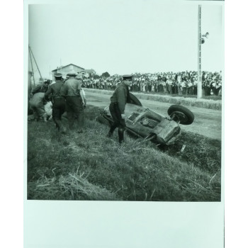 Photo Grand Prix d'Albi 1948 TALBOT - Jean DIEUZAIDE.