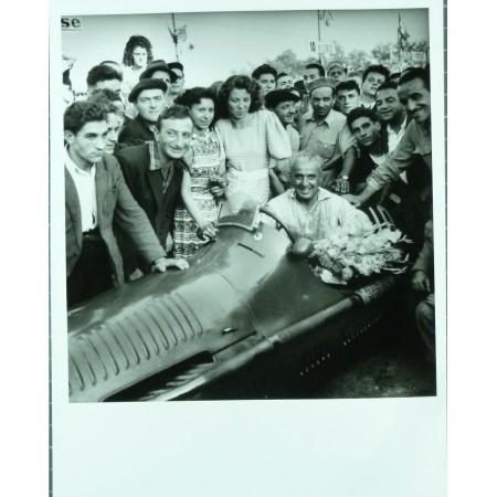 PHOTO GRAND PRIX D'ALBI 1948  VILLORESI MASERATI- JEAN DIEUZAIDE.