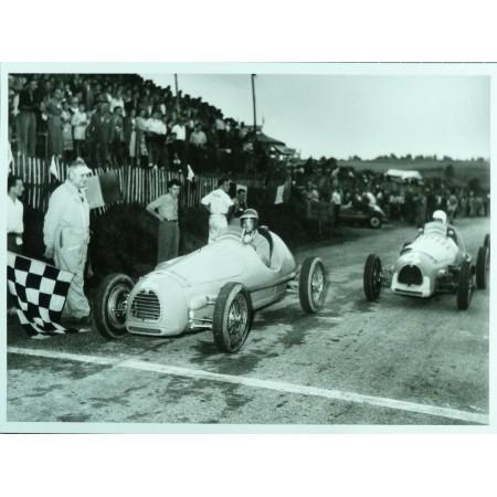 PHOTO GRAND PRIX DE CADOURS 1951 TRINTIGNANT - JEAN DIEUZAIDE.