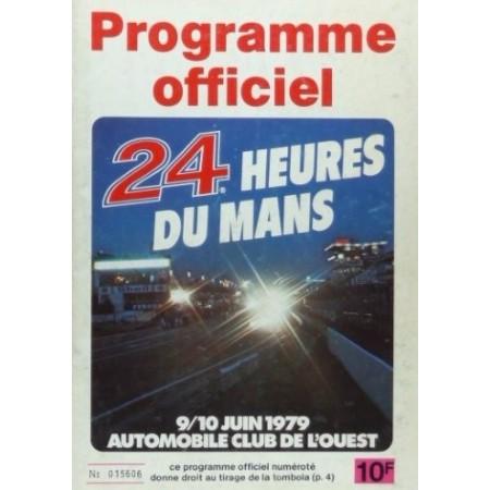Programme officiel 24 heures du Mans 1979