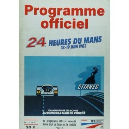 Programme officiel 24 heures du Mans 1983