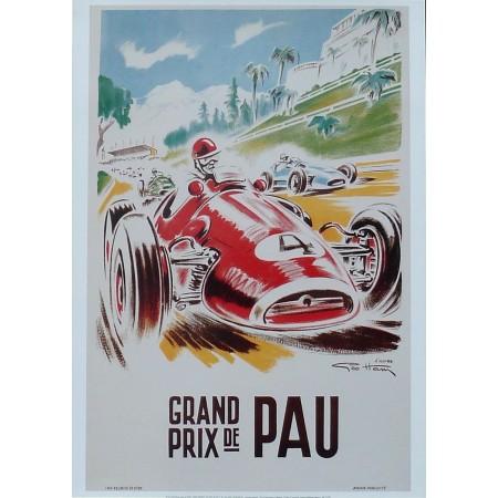 Affiche du Grand Prix de Pau (1957,1958) par Geo Ham