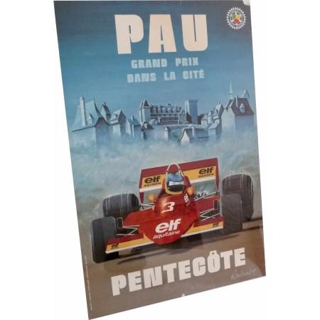Original Poster Pau Formula 2 Grand Prix 1977