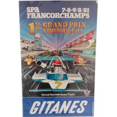 Original Poster Spa Francorchamps Formula 2 Grand Prix 1981