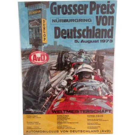 Original poster Formula 1 Nürburgring Grand Prix 1973 Michael Turner