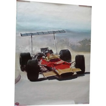 Original Poster Graham Hill Lotus 49B STP