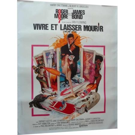 """Original poster James Bond """"Vivre et laisser mourir"""""""