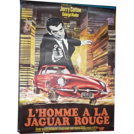 """Original poster """"L'homme à la Jaguar rouge"""" 1968"""