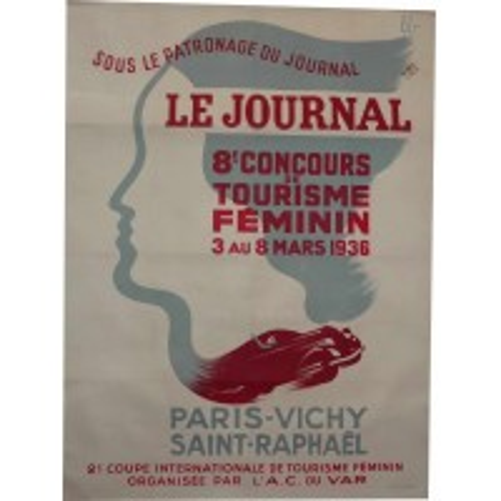Original poster Paris Saint-Raphaël 1936 race