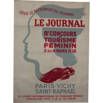 Original poster Paris Saint-Raphaël 1936 race