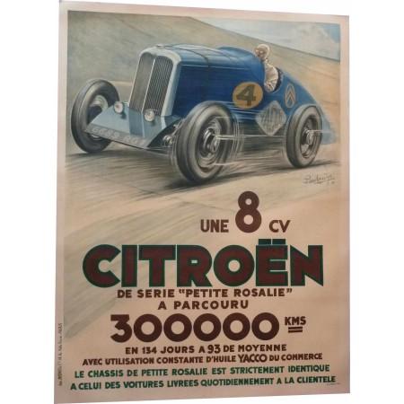 "RARE original poster Citroën ""La petite Rosalie"" Montlhery Pierre Louys, 1933"
