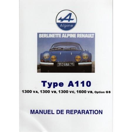 Alpine Renault Type A110, Manuel de réparation