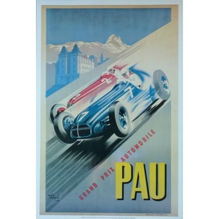 Affiche Grand Prix de Pau 1949-1950, Reproduction