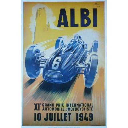 Affiche Grand Prix d'Albi 1949, Reproduction
