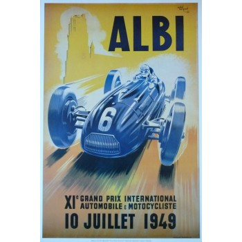 Affiche Grand Prix d'Albi 1949, Reproduction