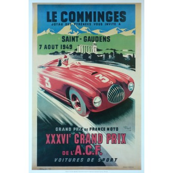 Affiche Grand Prix du Comminges (Saint-Gaudens) 1949