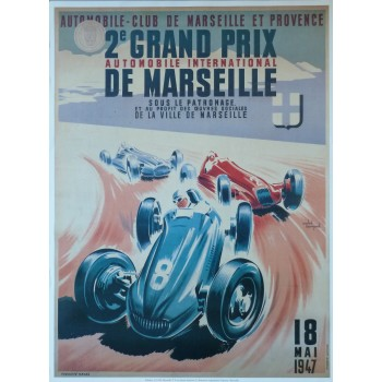 Affiche Grand Prix de Marseille 1947, Reproduction