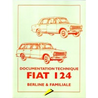 Documentation technique Fiat 124 Berline et familiale