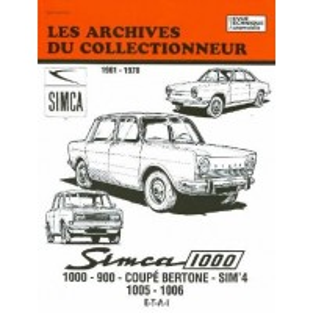 Simca 1000 T 1 1961-1978 - Revue technique