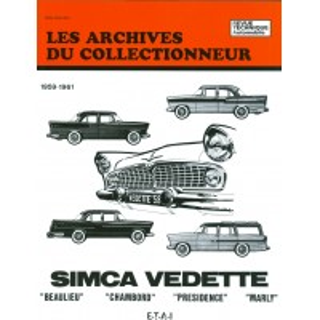 Simca Vedette Beaulieu-Chambord-Presidence-Marly 1959-1961