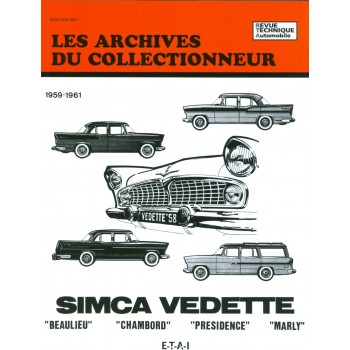 Simca Vedette Beaulieu-Chambord-Presidence-Marly 1959-1961