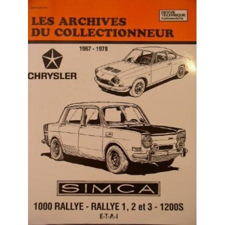 Simca 1000 Rallye 1967-1978 - Revue technique