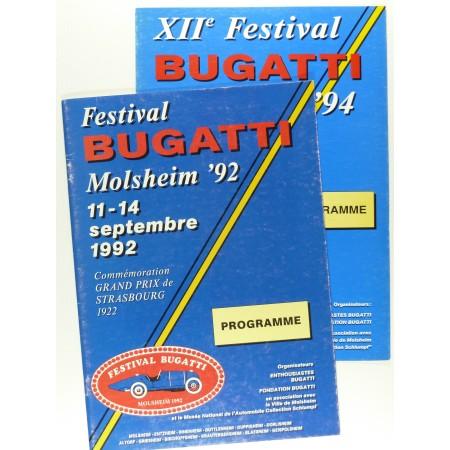 Programmes du Festival Bugatti - Molsheim 1992, 1993, 1994
