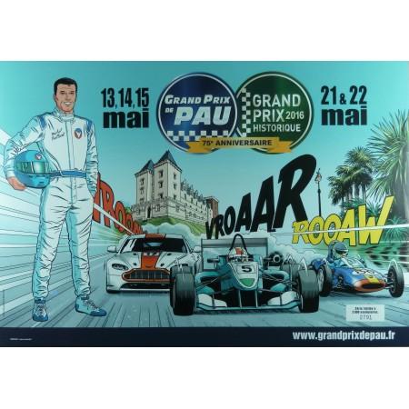 Affiche Grand Prix de Pau 2016 Michel Vaillant