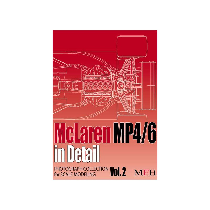 "PHOTOGRAPH COLLECTION Vol 2 ""McLaren MP4/6 in Detail"""